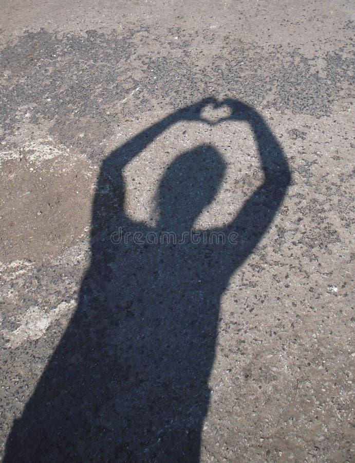 σκιά καρδιών στοκ φωτογραφίες