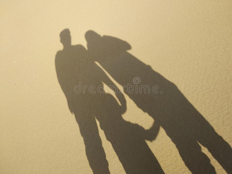 Σκιά στην παραλία στοκ εικόνες