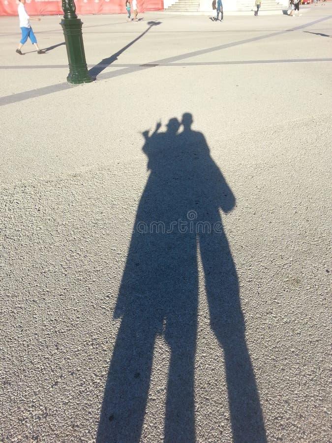 Σκιά στη Λισσαβώνα στοκ εικόνα με δικαίωμα ελεύθερης χρήσης