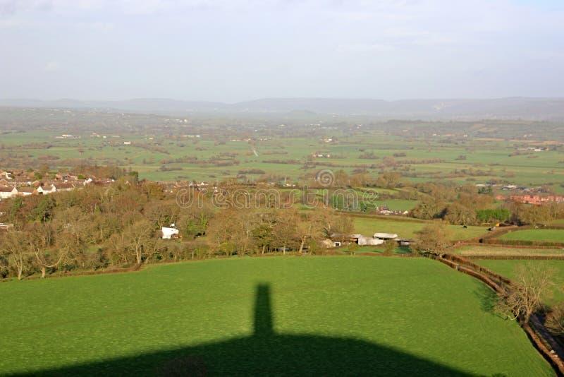 Σκιά της σκαπάνης Glastonbury, Somerset στοκ εικόνες