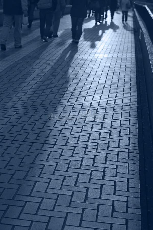 σκιές ανθρώπων στοκ φωτογραφίες