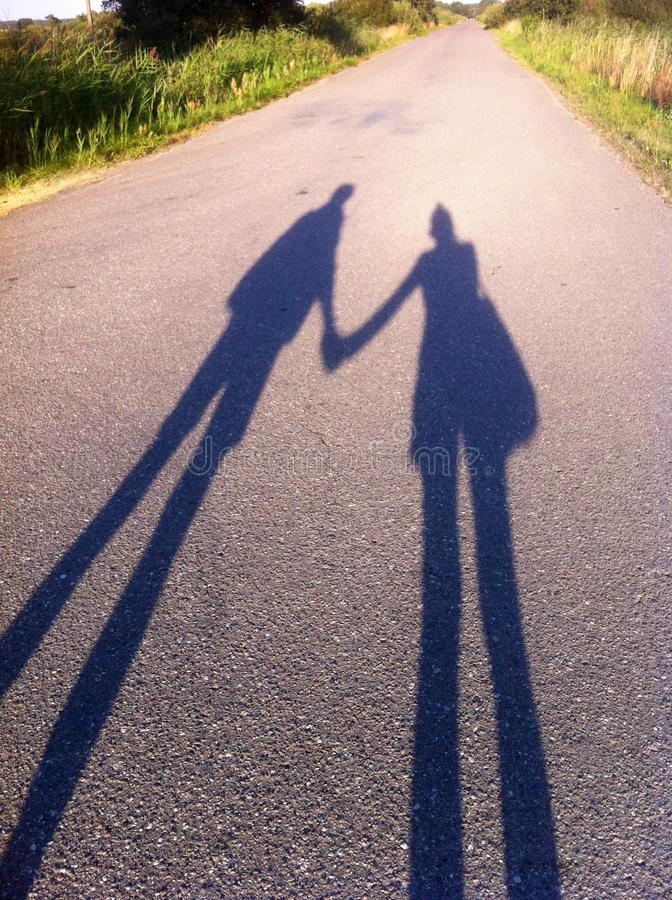 σκιές ζευγών στοκ φωτογραφίες με δικαίωμα ελεύθερης χρήσης