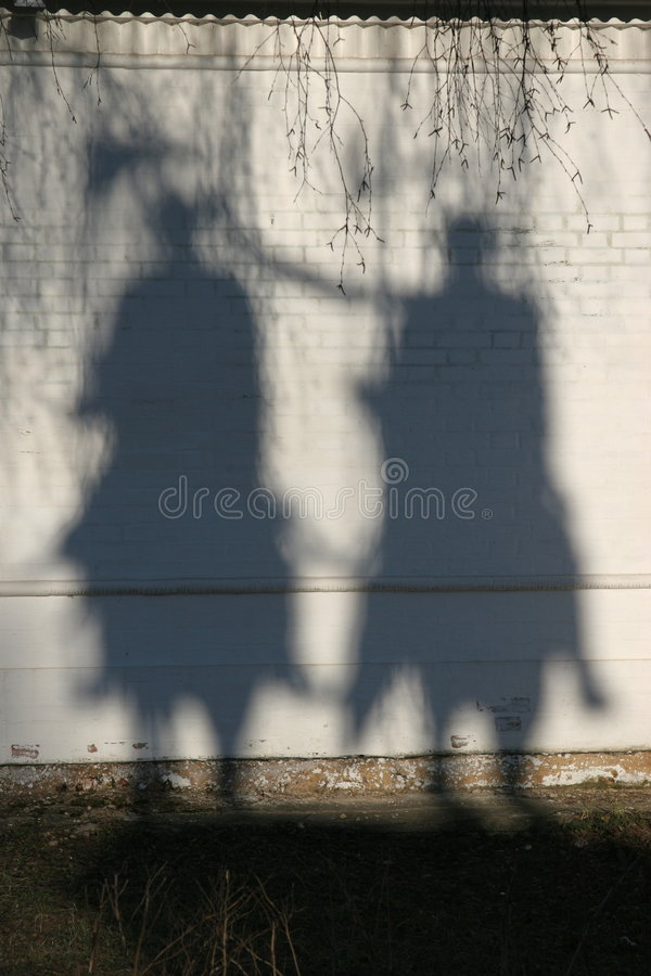 σκιές ιππέων στοκ εικόνες