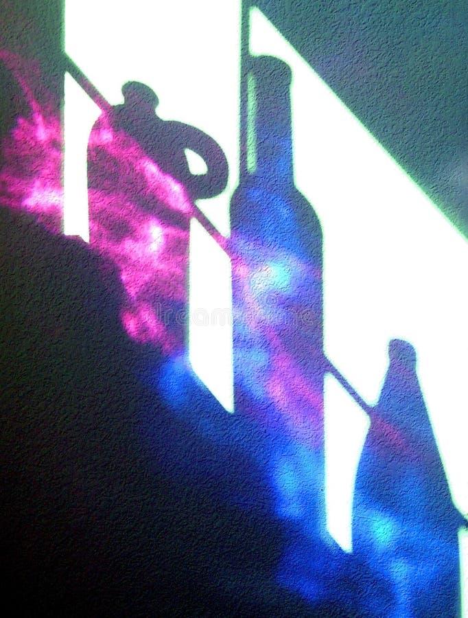 σκιές μπουκαλιών στοκ φωτογραφία με δικαίωμα ελεύθερης χρήσης