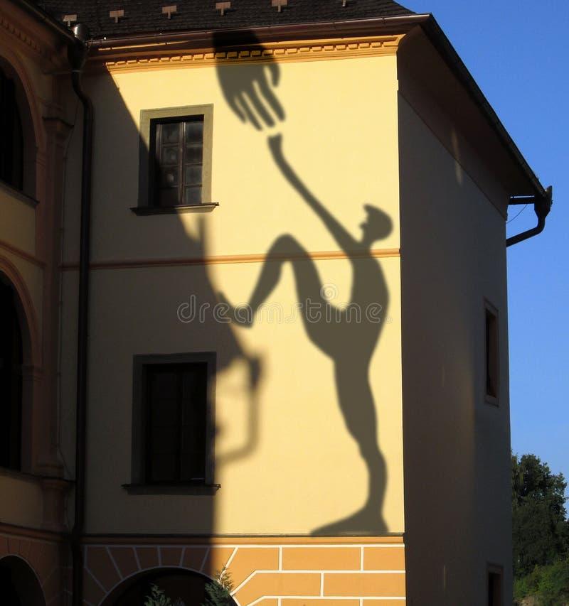 Σκιές στον τοίχο στοκ εικόνες