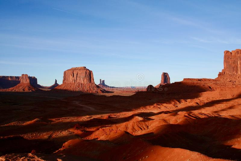 Σκιές της κοιλάδας μνημείων στοκ εικόνες με δικαίωμα ελεύθερης χρήσης