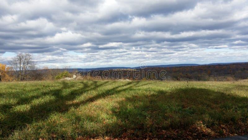 Σκιές φωτογραφίας φύσης Hill στοκ εικόνες