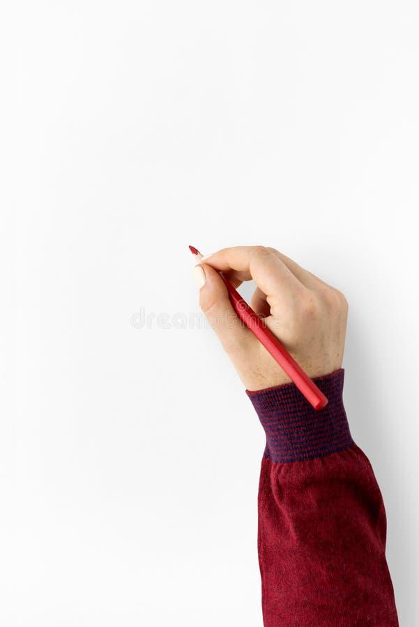 Σκιαγράφηση σχεδίων μολυβιών χεριών δημιουργική στοκ φωτογραφία με δικαίωμα ελεύθερης χρήσης