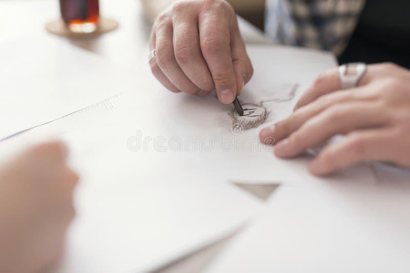 Σκιαγράφηση της λεπτομέρειας στοκ εικόνες με δικαίωμα ελεύθερης χρήσης