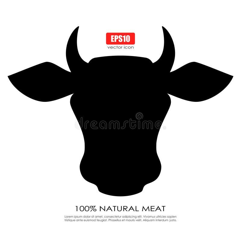 Σκιαγραφία αγελάδων διανυσματική απεικόνιση