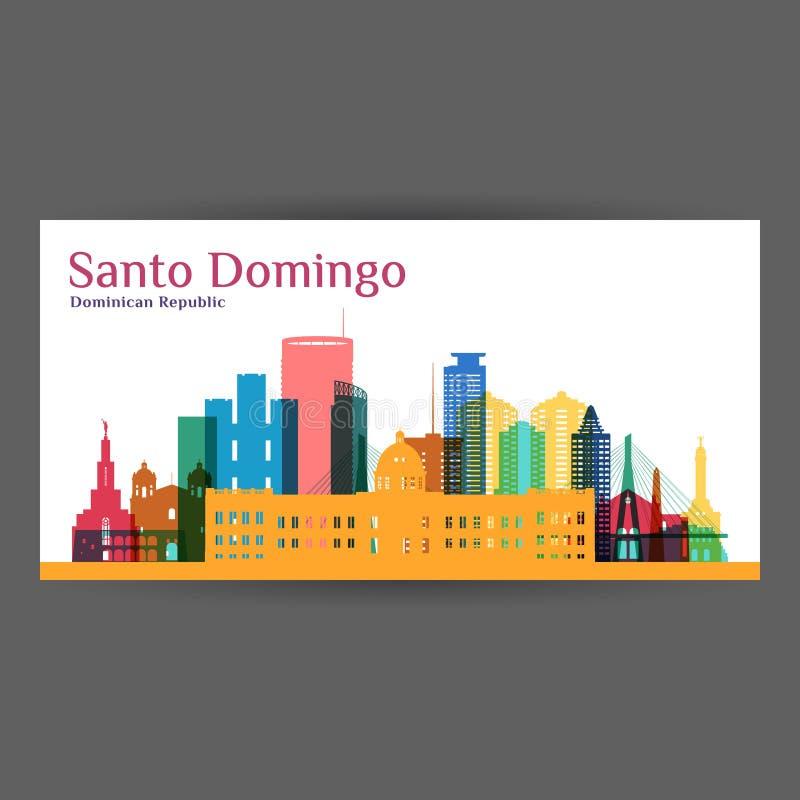 Σκιαγραφία αρχιτεκτονικής πόλεων του Domingo Santo διανυσματική απεικόνιση