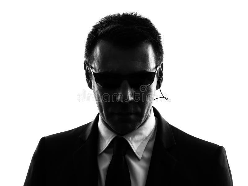 Σκιαγραφία ατόμων πρακτόρων σωματοφυλακών ασφάλειας Μυστικής Υπηρεσίας στοκ εικόνες