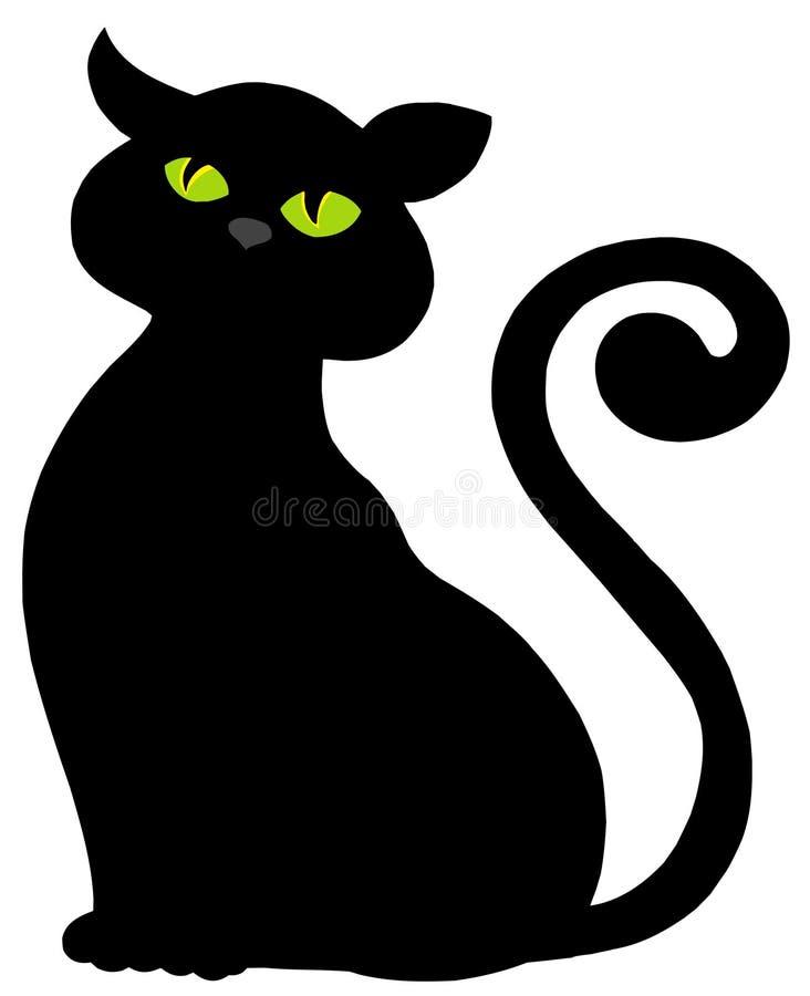 σκιαγραφία γατών διανυσματική απεικόνιση