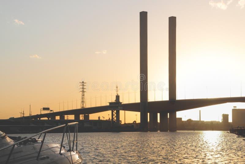 Σκιαγραφία γεφυρών Bolte στοκ εικόνες