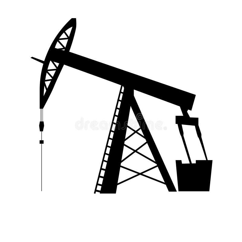 Σκιαγραφία γρύλων αντλιών πετρελαίου διανυσματική απεικόνιση