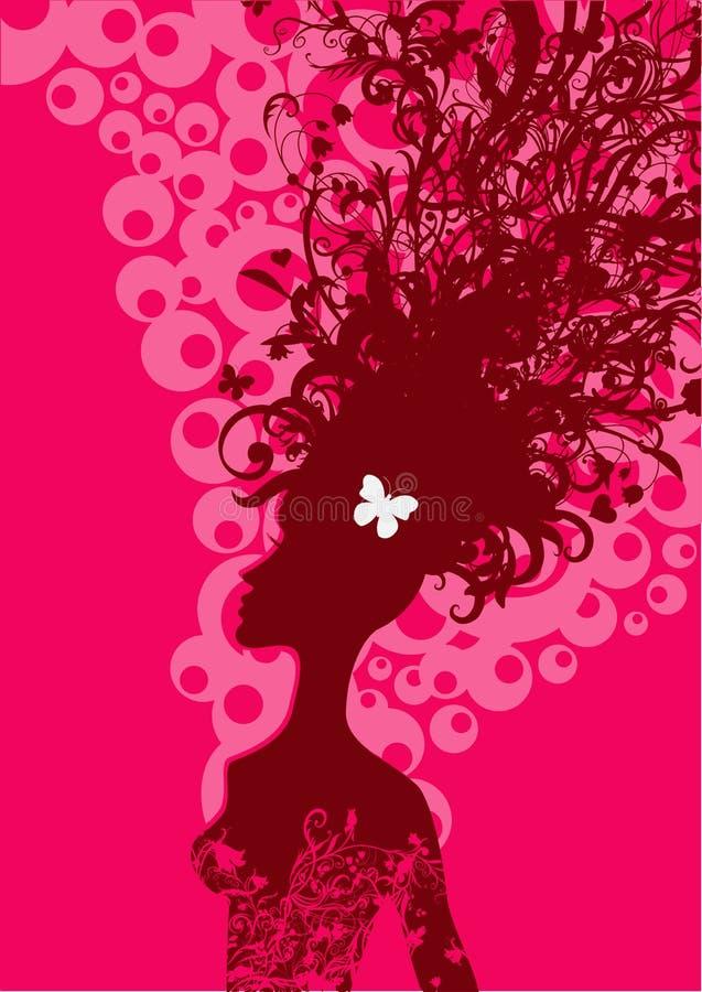 Σκιαγραφία γυναικών διανυσματική απεικόνιση