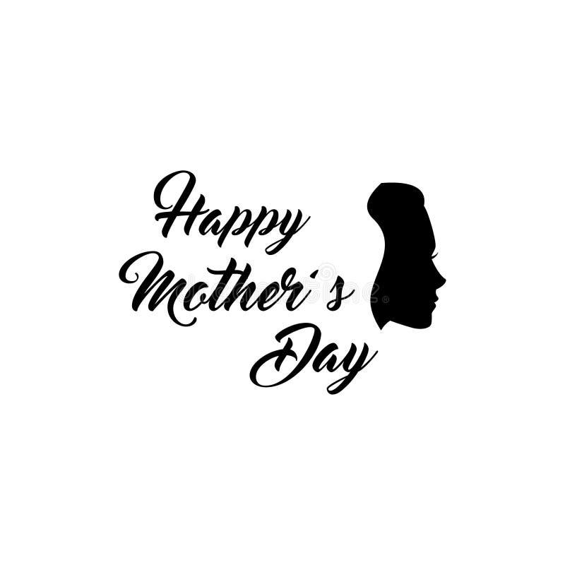 Σκιαγραφία γυναικών s ευχετήρια κάρτα ημέρας μητέρων επίσης corel σύρετε το διάνυσμα απεικόνισης απεικόνιση αποθεμάτων