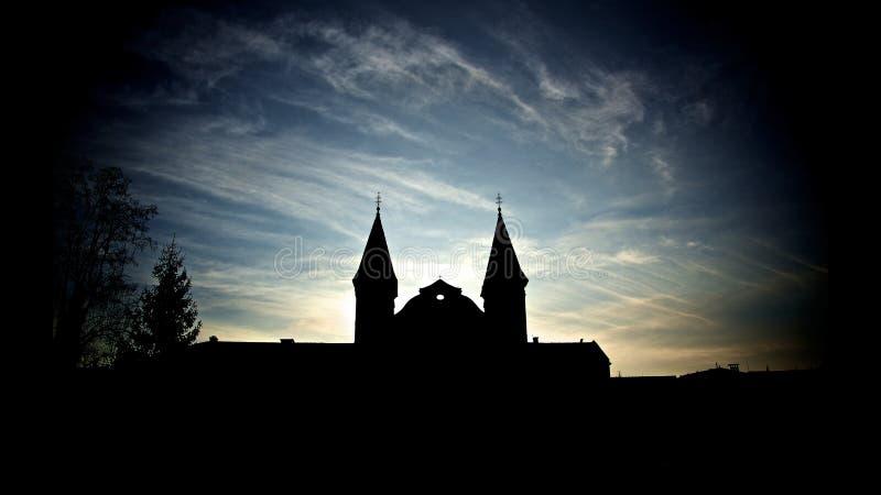 σκιαγραφία εκκλησιών στοκ εικόνες