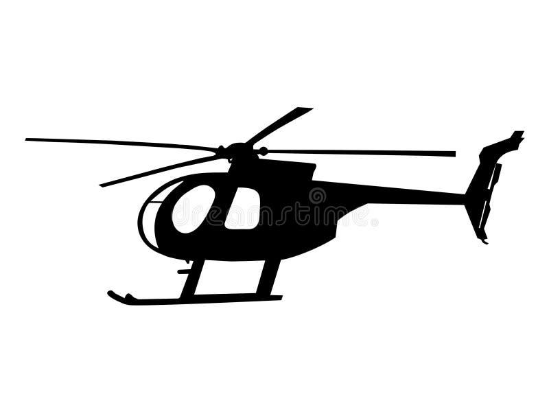 Σκιαγραφία ελικοπτέρων διανυσματική απεικόνιση