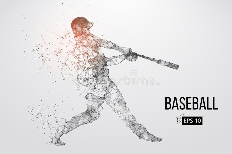 Σκιαγραφία ενός παίχτη του μπέιζμπολ επίσης corel σύρετε το διάνυσμα απεικόνισης