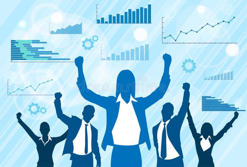Download Σκιαγραφία εορτασμού ομάδας επιχειρηματιών Διανυσματική απεικόνιση - εικονογραφία από γραφικός, ανθρώπινος: 62724770