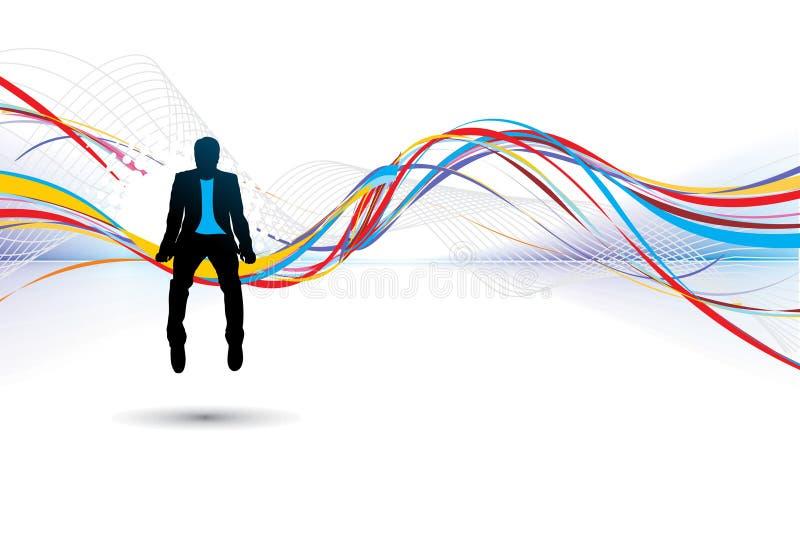 σκιαγραφία επιχειρηματ&iota απεικόνιση αποθεμάτων