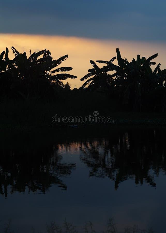 Σκιαγραφία ηλιοβασιλέματος ανατολής στοκ εικόνες