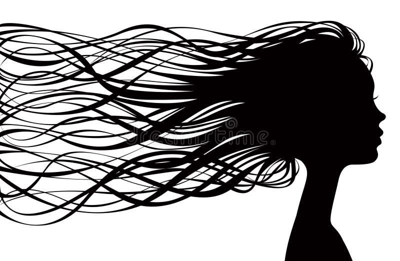 σκιαγραφία κοριτσιών ελεύθερη απεικόνιση δικαιώματος