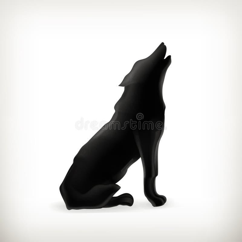 Σκιαγραφία λύκων ελεύθερη απεικόνιση δικαιώματος