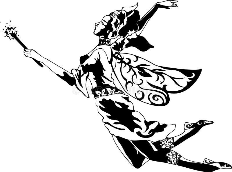 Σκιαγραφία νεράιδων διανυσματική απεικόνιση