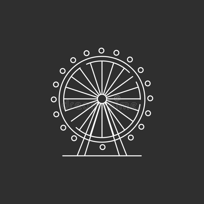 Σκιαγραφία ροδών Ferris ελεύθερη απεικόνιση δικαιώματος