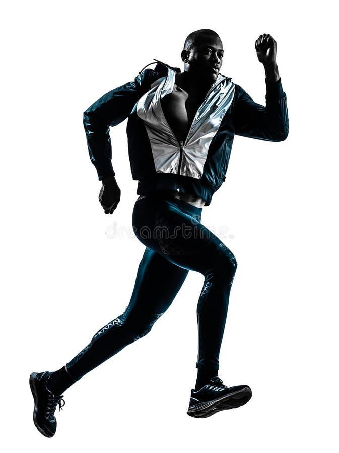 Σκιαγραφία δρομέων ατόμων sprinter jogger στοκ φωτογραφία με δικαίωμα ελεύθερης χρήσης