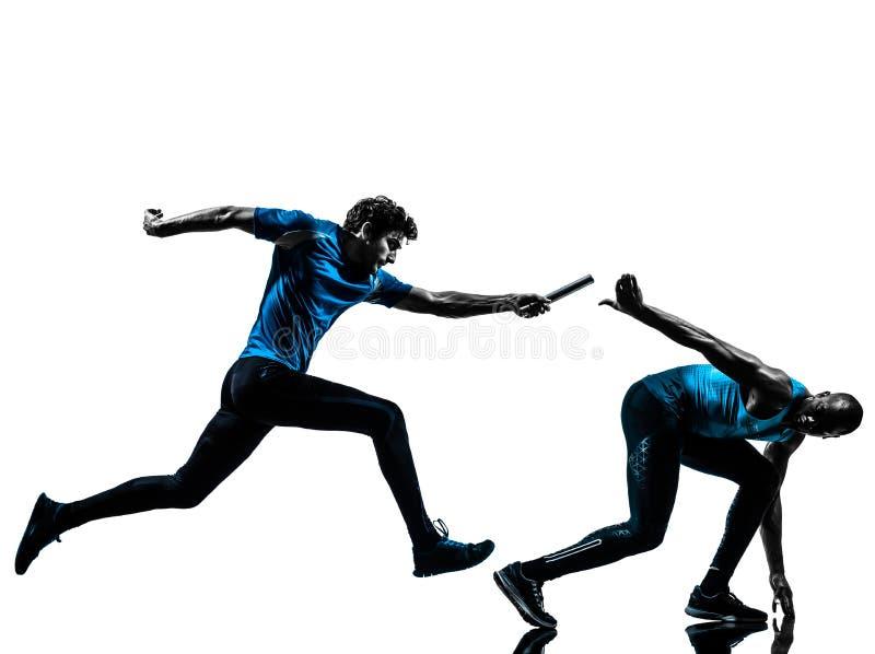Σκιαγραφία δρομέων ηλεκτρονόμων ατόμων sprinter στοκ εικόνες