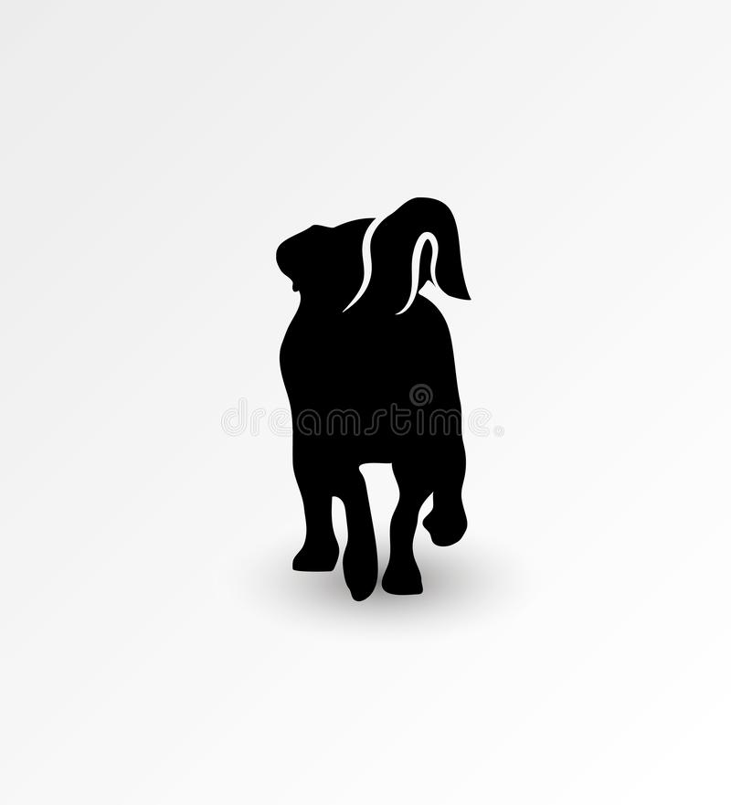 Σκιαγραφία της πίσω πλευράς του περπατώντας τεριέ του Jack Russell σκυλιών επίσης corel σύρετε το διάνυσμα απεικόνισης διανυσματική απεικόνιση