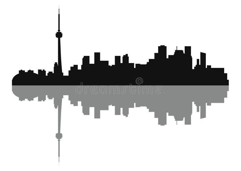 Σκιαγραφία της πόλης του Τορόντου οριζόντων διανυσματική απεικόνιση