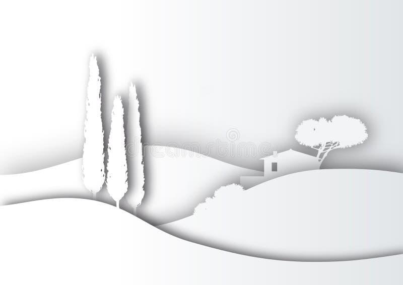 Σκιαγραφία της Τοσκάνης απεικόνιση αποθεμάτων