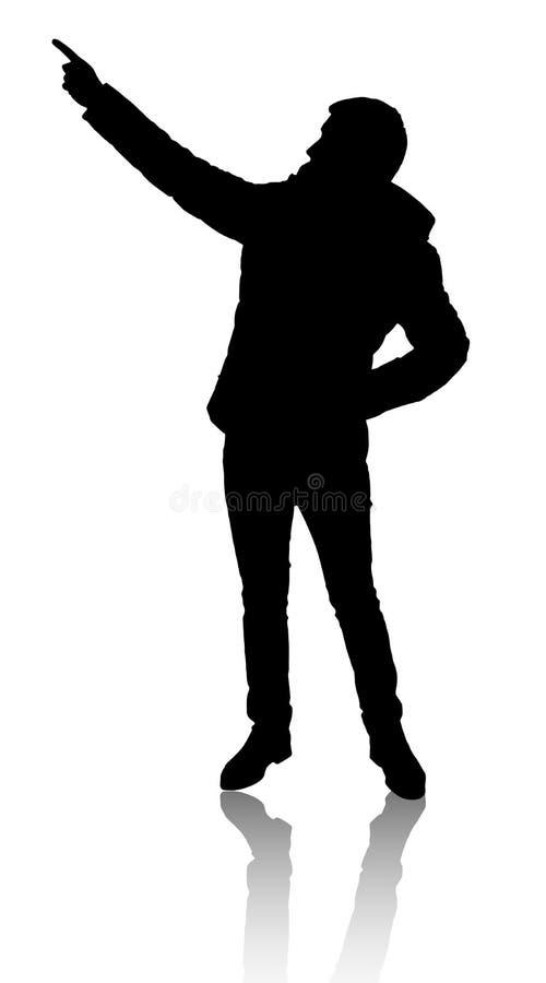 Σκιαγραφία του ατόμου διανυσματική απεικόνιση