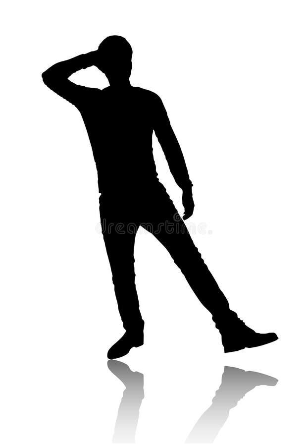 Σκιαγραφία του ατόμου ελεύθερη απεικόνιση δικαιώματος