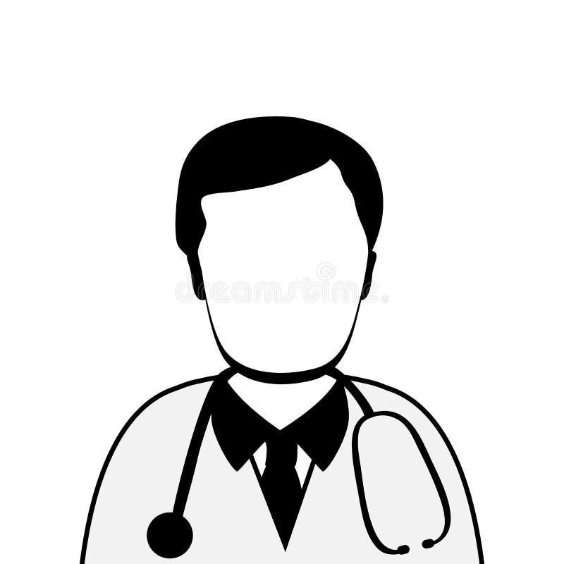 Σκιαγραφία του γιατρού διανυσματική απεικόνιση