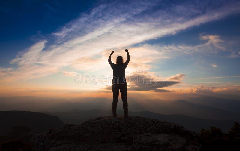Σκιαγραφία του ευτυχούς προσώπου στοκ φωτογραφίες με δικαίωμα ελεύθερης χρήσης