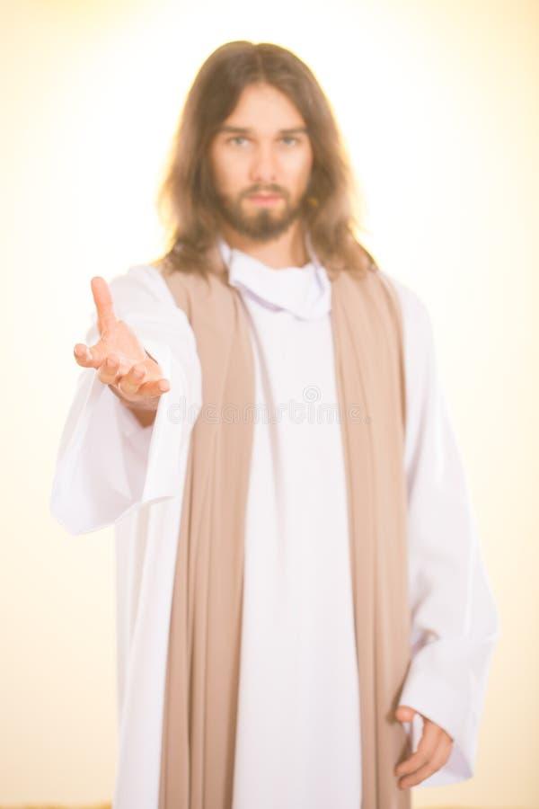 Σκιαγραφία του Ιησούς Χριστού στοκ εικόνα