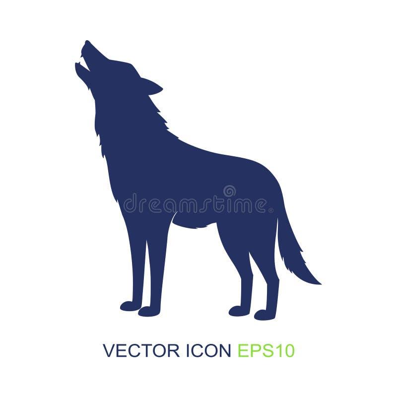 Σκιαγραφία του λύκου διανυσματικός Ιστός λογότυπων σφαιρών wildlife άγριος λύκος επίσης corel σύρετε το διάνυσμα απεικόνισης ελεύθερη απεικόνιση δικαιώματος