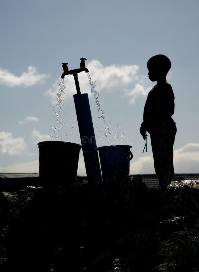 Σκιαγραφία του νέου αγοριού Langa στοκ φωτογραφία με δικαίωμα ελεύθερης χρήσης