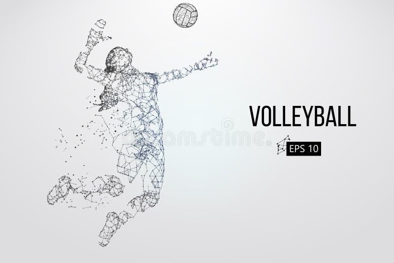Σκιαγραφία του φορέα πετοσφαίρισης επίσης corel σύρετε το διάνυσμα απεικόνισης