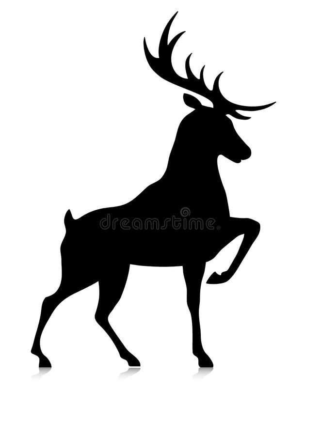 Σκιαγραφία του buck διανυσματική απεικόνιση