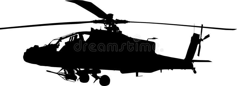 Σκιαγραφία τόξων Apache στοκ εικόνες