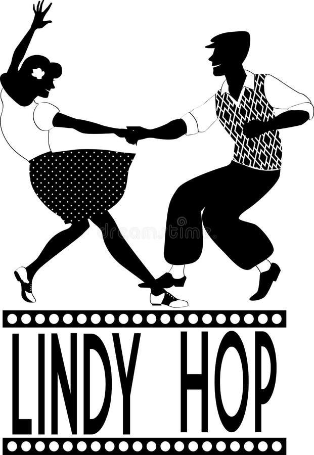 Σκιαγραφία λυκίσκου της Lindy διανυσματική απεικόνιση