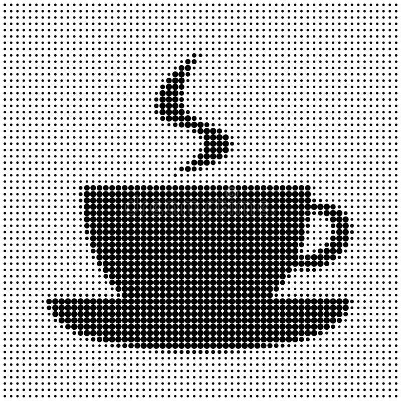 σκιαγραφία φλυτζανιών καφέ απεικόνιση αποθεμάτων