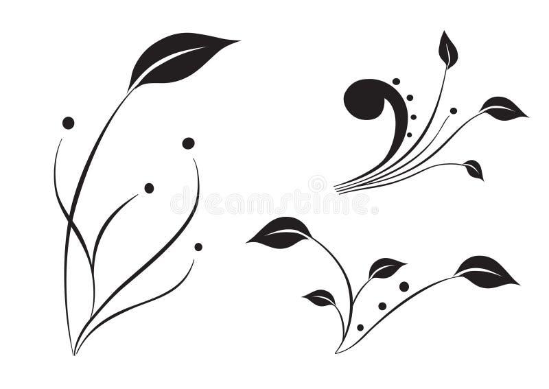σκιαγραφία φυτών απεικόνιση αποθεμάτων