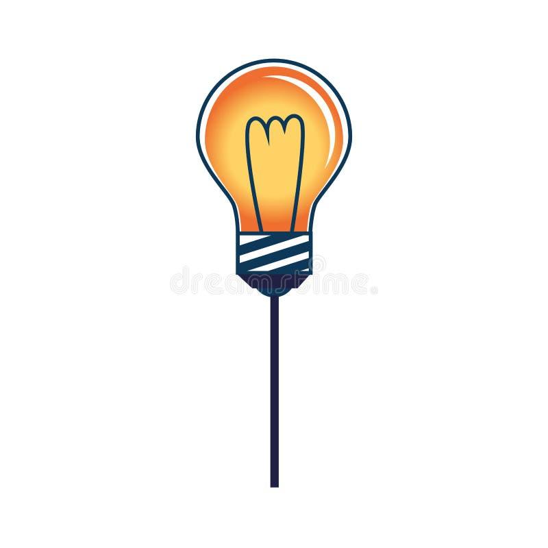 Σκιαγραφία χρώματος με τη λάμπα φωτός ελεύθερη απεικόνιση δικαιώματος